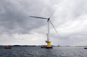 Wind turbine in the sea