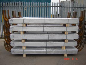 Stack of large anodes