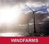 Wind farm on a sunny day